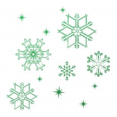 Couture Creations Naughty or Nice - Mini Stamp - Snowflakes (1pc)